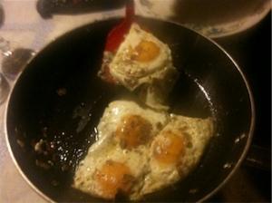 Georgio's eggs with white truffles