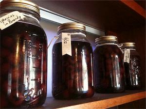 Jenny Raven's preserved raspberries