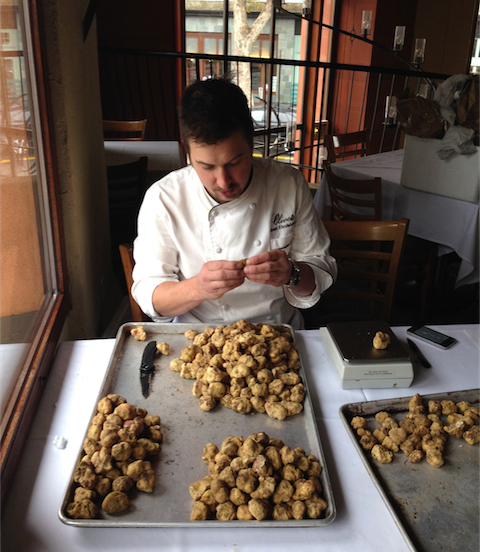 Chef Rhodehamel assesses the 2013 truffle haul