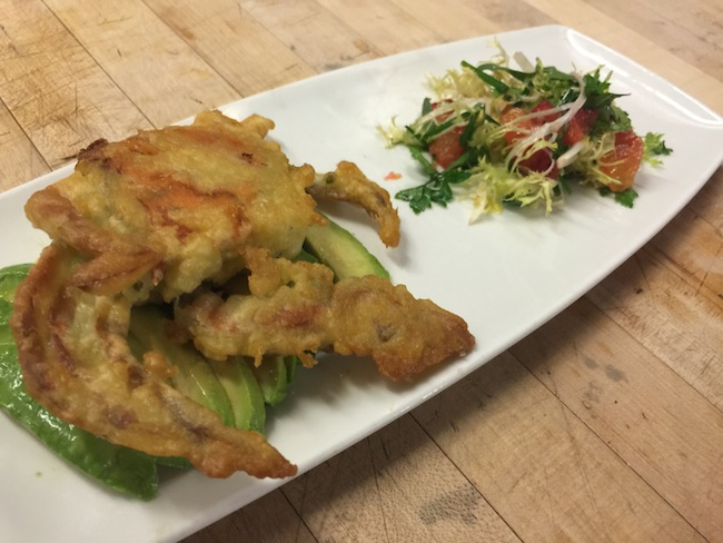 Crabcake stuffed softshell crab
